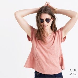 • Madewell • Modern Linen Gather Top Pink Medium